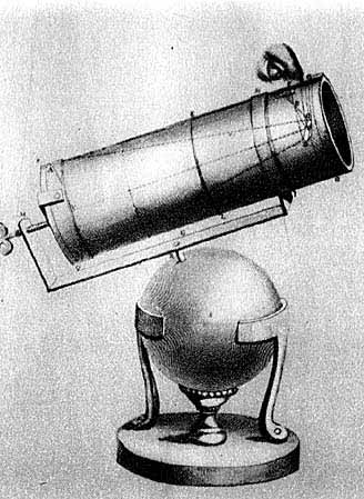 Схема телескопа-рефлектора